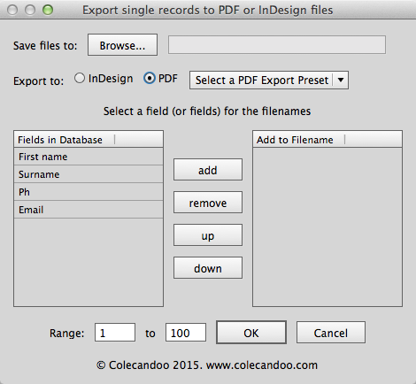 Data Merge from InDesign to unique filenames – now a reality
